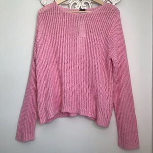 EILEEN FISHER ~ Size L Pink Tic Tac Linen Knit NWT